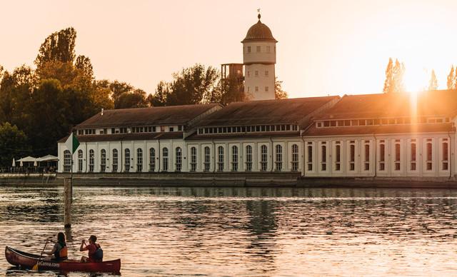Konstanz-Kajak-Kanu-Seerhein-Stromeyersdorf-Bleiche-Sonnenuntergang-08_Sommer_Copyright_MTK-Leo-Leister