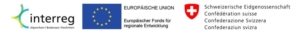 Logoleiste: Interreg, Euroäische Union & Schweizerische Eidgenossenschaft